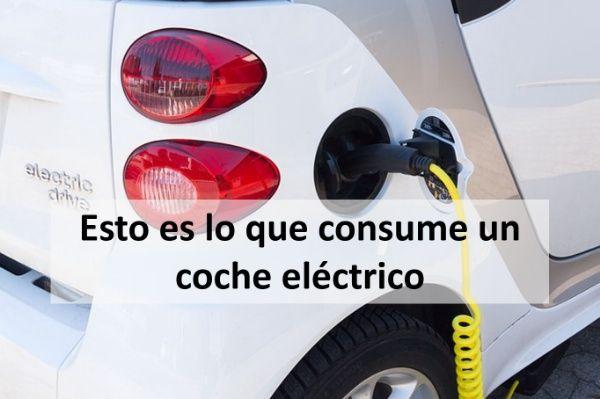 esto es lo que consume un coche electrico