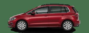 Renting volkswagen golf-sportsvan